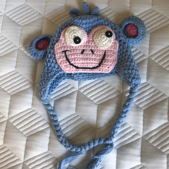 Infant \u201cBoots the Monkey\u201d hat (Dora the Explorer)